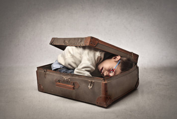 Child in the Luggage