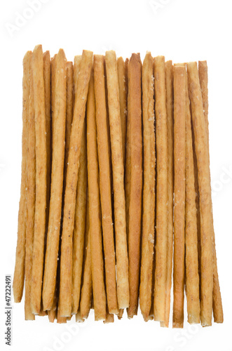 Bread sticks with salt isolated