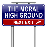 Moral high ground. poster