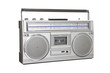 Vintage Boom Box Blaster Portable Stereo with Clipping Path