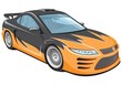 Vector isolated sports car without gradients