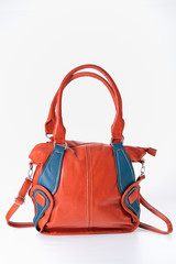 red ladies handbag