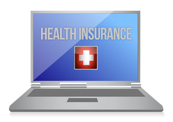 buying online health insurance concept