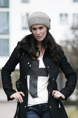 Modebewusste Frau