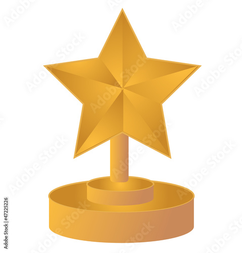 star gold trophy