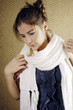 Young girl with scarf