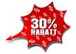 30% Rabatt, Knaller, Vektor