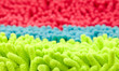 colorful microfiber mop strands texture