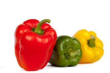 Roter, gelber und grüner Paprika I