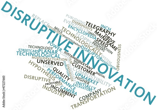 Word cloud for Disruptive innovation