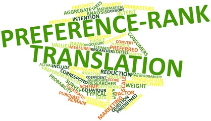 Word cloud for Preference-rank translation