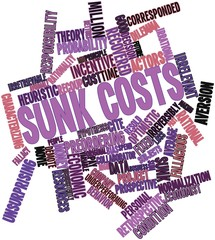 Word cloud for Sunk costs