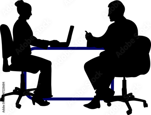 Business background with business people silhouette