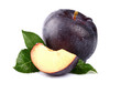 Sweet plum with slice