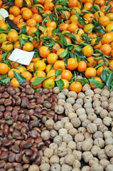 Esskastanien, Walnüsse und Mandarinen