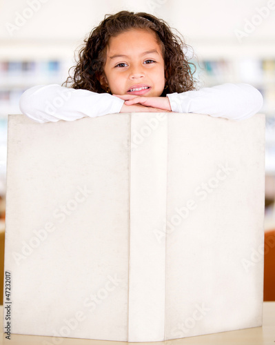 Schoolgirl with a book