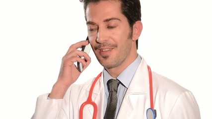doctor using a cellphone