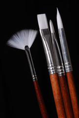 Set of Artist's paint brushes
