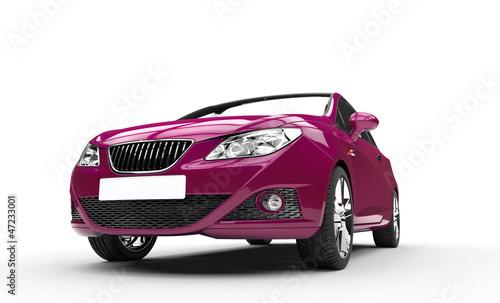 Foto op Canvas Snelle auto s Violet Modern Car