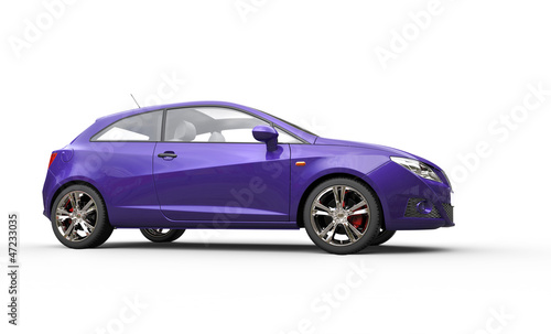 Rich Purple Car