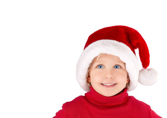 x-mas girl with Santa Claus hat