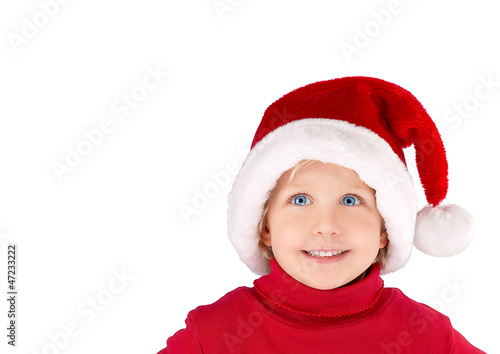 x-mas girl with Santa Claus hat