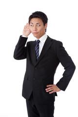 businessman that listen