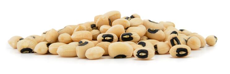 Black eyed peas beans isolated on white background