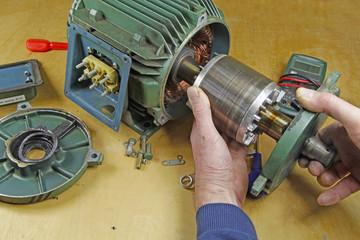 repairing electric motor