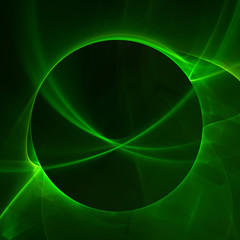 Abstract green fractal circle