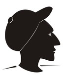 man and cap - silhouette