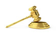 Golden justice gavel