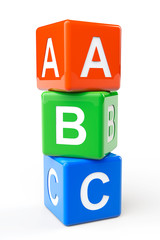 ABC block cubes