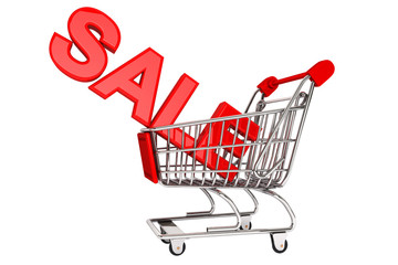 Sale Sign in trolley
