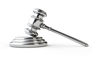 Silver justice gavel