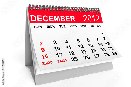Calendar December 2012