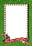 Christmas plaid frame