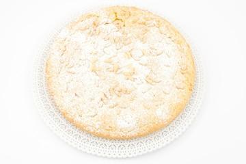 Torta della nonna- con crema e pinoli