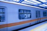 Fototapeta podziemny - metro - Kolej