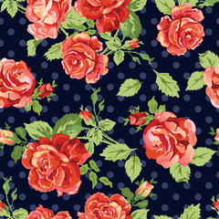 dark rose seamless background
