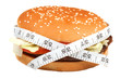 Hamburger with measuring tape