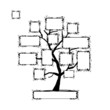 Art tree with frames, place for your text or photo