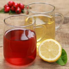 Roter und gelber Tee