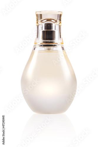 perfume bottle on white background
