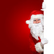 Weihnachtsmann mit rotem Hintergrund