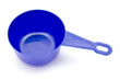 Blue measuring spoon