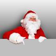 Weihnachtsmann mit grauer Fläche
