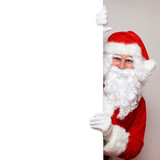 Fototapety Santa schaut um die Ecke