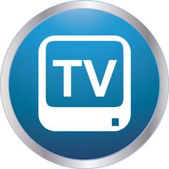 icon television blue