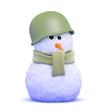 Snowman soldier